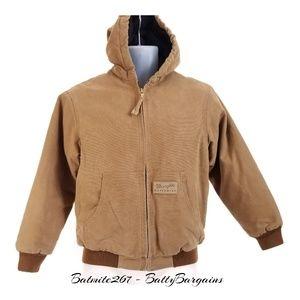 Boys Wrangler  Coat Brown L Youth HOOD Zip Up